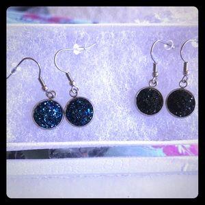 Dangle druzy earrings